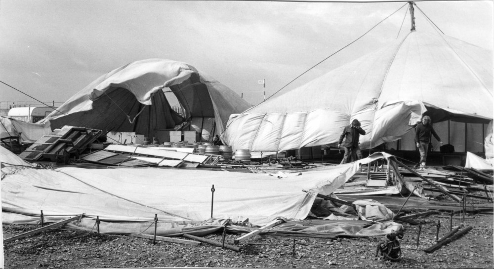 Racing stopped when the marquee blew down in the 1983 West Lancs 24 Hour Race - photo © WLYC