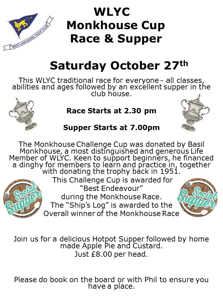2018 Monkhouse Cup & Supper
